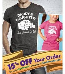 daddy daughter shirt or onesie matching set  |  best friends for life fist bump