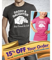 daddy daughter shirt or onesie matching set  |  best friends for life fist bump