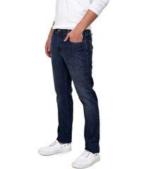 calça jeans forum slim azul-marinho