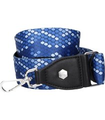 straps cartera rombos azul zappa