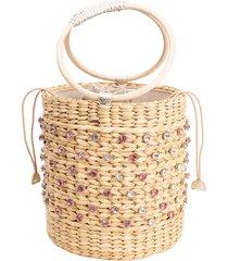 bobbi crystal embellished bucket bag