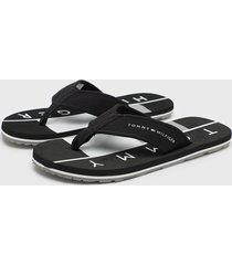 sandalia negro tommy hilfiger