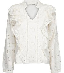 broderie blouse rose  wit