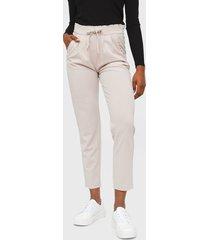 pantalón  jacqueline de yong gris - calce ajustado