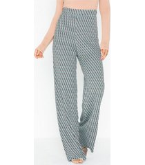 nly trend knitted jacquard pants byxor