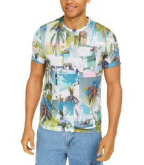 guess men's kurt jersey la montage graphic t-shirt