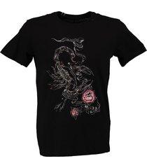 replay stevig zwart t-shirt valt kleiner
