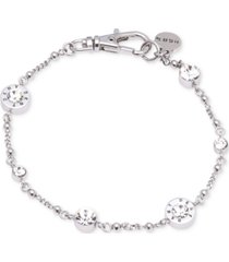dkny crystal and logo station bracelet, created for macy's