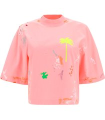 palm angels crop t-shirt