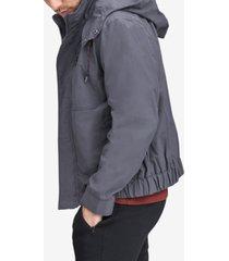 marc new york men's hooded bomber jacket