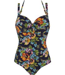 jardin des fleurs plunge balcony bathing suit | wired padded floral - 32d