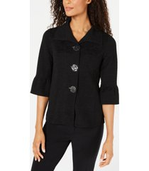 jm collection petite textured three-button jacket, created for macy's