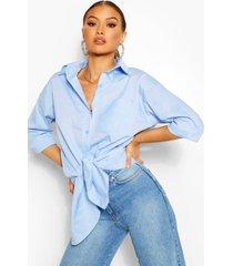 oversized shirt, blue