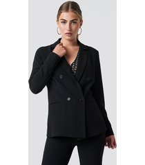 rut&circle ofelia double button blazer - black