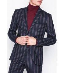 selected homme slhslim-acesmart red stripe blazer kavajer & kostymer mörk blå