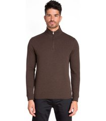jared lang 1/4 zip knit pullover sweater