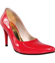 tacones stilettos  rojo charol wanted ref splendid