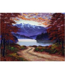 "david lloyd glover road to green lake canvas art - 37"" x 49"""
