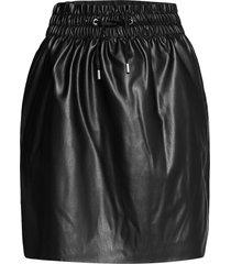 vmava hw short coated skirt kort kjol svart vero moda