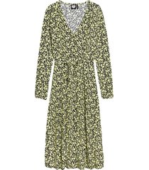 dress lime flowers sap green