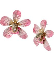 betsey johnson orchid statement earrings
