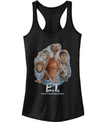 fifth sun e.t. main cast retro portrait movie logo ideal racer back tank