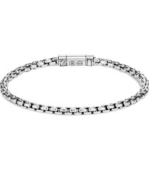 'classic chain' silver box chain bracelet