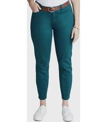 jeans pitillo cinturon azul curvi