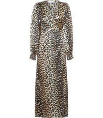 ganni lopard dress