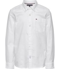 back detail stretch oxford shirt overhemd wit tommy hilfiger