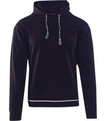 emporio armani hoodie navy