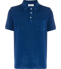 closed terrycloth polo-shirt - blue