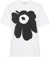 liuske unikko placement t-shirt t-shirts & tops short-sleeved wit marimekko