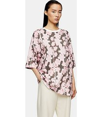 *floral print oversized t-shirt by boutique - pink