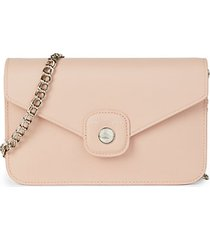 le pliage leather wallet on chain