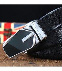 cinturón de hombres, cinturón cinturón de hebilla-negro