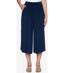 ruby rd. misses altered crepe culottes pants