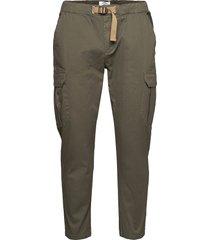 maverick - cropped trousers cargo pants grön kronstadt