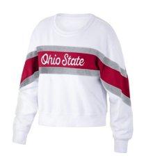 top of the world ohio state buckeyes women's daybreak crew sweatshirt