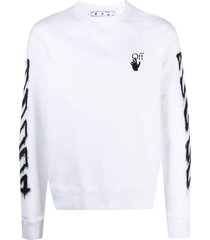 spray marker long-sleeve t-shirt, white