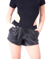 shorts up side wear de cirré preto