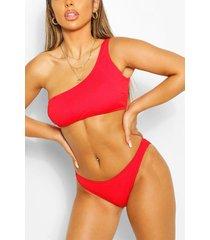 detachable strap bikini, red