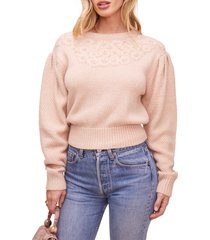 women's astr the label samantha sweater, size small - pink