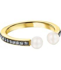 anillo tous nocturne de plata vermeil con perlas  918445510