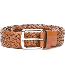 church's buckled woven belt - brown