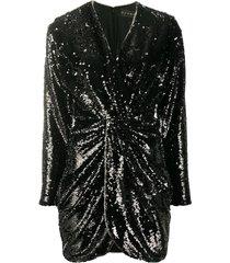 twist front sequin mini dress