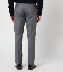 thom browne men's classic twill super 120 trousers - medium grey - 1/s
