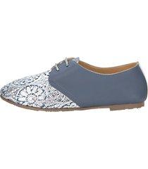 skor liva loop ljusblå::silverfärgad