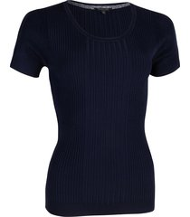 cavallaro t-shirt 6401012 braccia top blauw