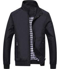 chaqueta para hombre casual poliester jk55118 negro